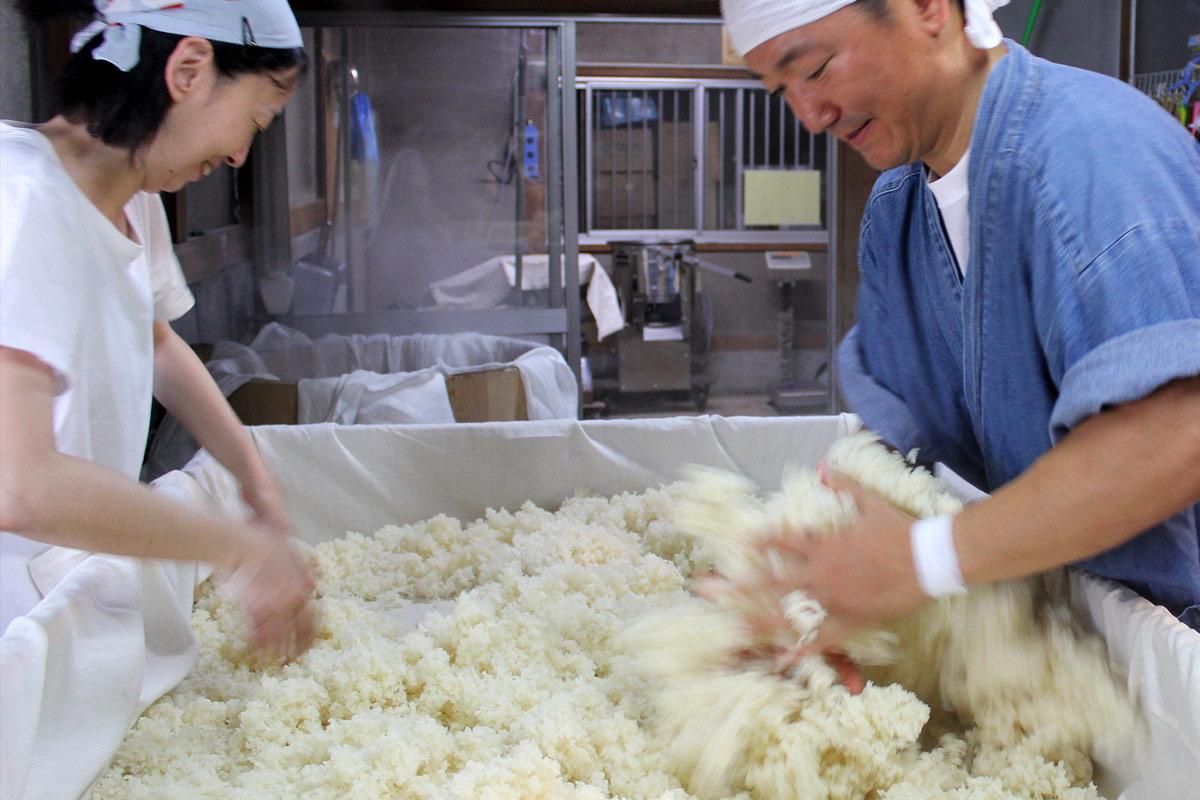 米を適温までさげる